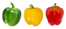 Red, Green And Yellow Peppers ...