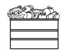 Fruit And Vegetables Crates Bl...