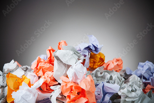 Photo  Business: Crumpled Pile Of Waste Paper