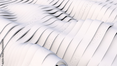 Fotografie, Obraz  White Wavy band surface