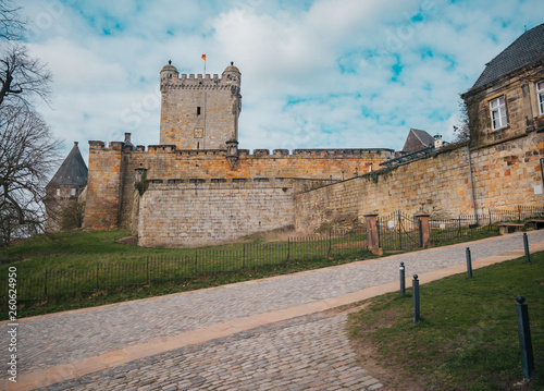 Fotografía Batterieturm tower in the fortified wall of Bentheim castle, Germany, Lower Saxo