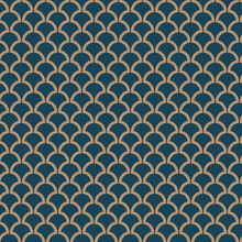 Seamless Abstract Art Deco Leaf Vector Pattern