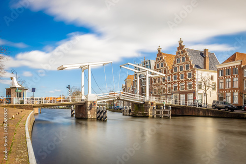 Photo  Classic draw bridge in Haarlem, Netherlands