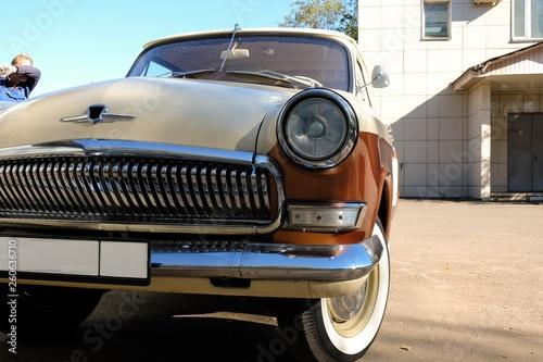 Fotobehang Cubaanse oldtimers old car