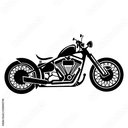 Leinwand Poster vector illustration of a vintage motorcycle