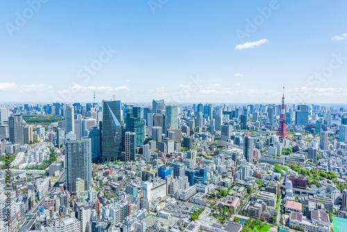 Photo Stands Tokyo 春の東京風景 Tokyo city skyline , Japan