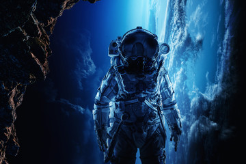 Astronaut in space. Mixed m...