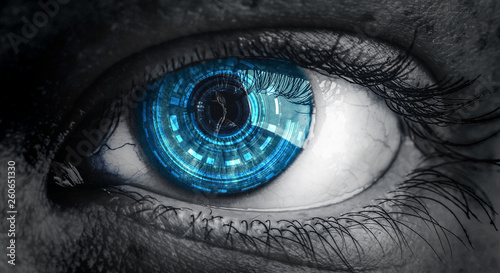 Abstract high tech eye concept Fototapet