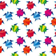 Żółwie origami. Bezszwowe tło wektor