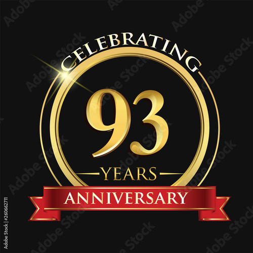 Fototapeta Celebrating 93 years anniversary logo
