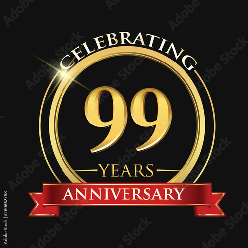 Photographie  Celebrating 99 years anniversary logo