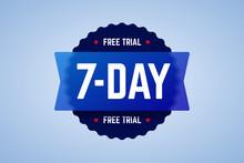 The 7 Days Free Trial Emblem. ...