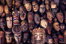 Masque Ethnique Africain Déco...