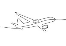 Plane Continuous Line Vector I...