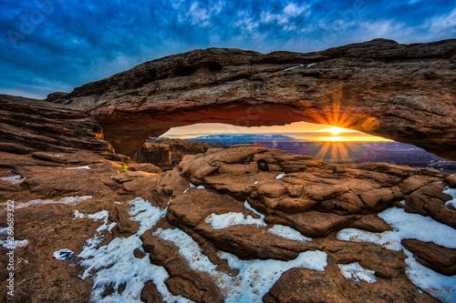 Fotografie, Obraz  Sunrise on Mesa Arch, Canyonlands National Park, Utah