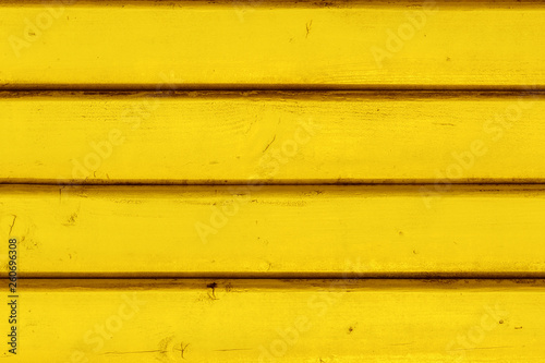 Fotografie, Obraz Yellow vintage wooden boards in overlap cladding pattern