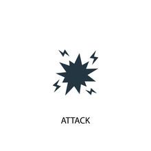 Attack Icon. Simple Element Il...