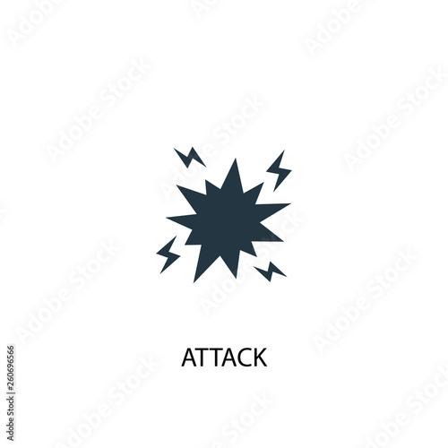 attack icon Canvas Print