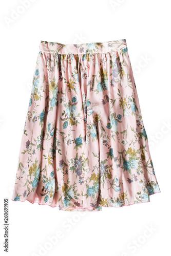 Obraz na płótnie Floral skirt isolated