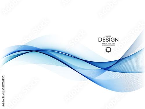 Fotomural Abstract colorful vector background, color wave for design brochure, website, flyer