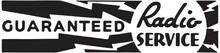 Guaranteed Radio Service - Retro Ad Art Banner