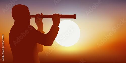 Foto  HOMME LONGUE VUE - Soleil silhouette