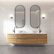 Leinwanddruck Bild 3d rendering of a modern minimal white bathroom