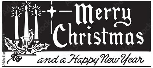 Photo Merry Christmas 7  - Retro Ad Art Banner