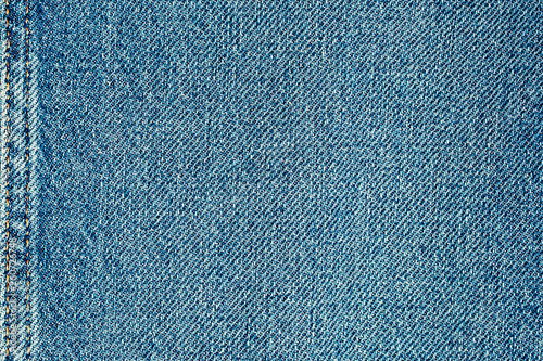 Pinturas sobre lienzo  Beautiful blue denim fabric close up