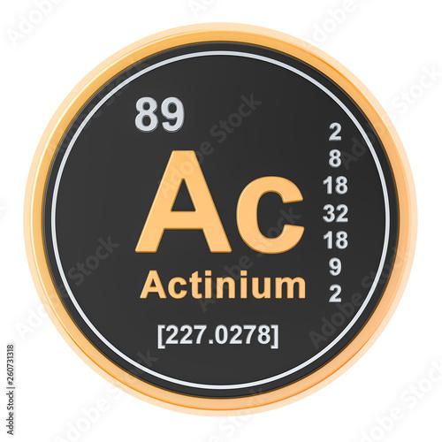 Actinium Ac chemical element. 3D rendering Wallpaper Mural