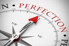 Kompass Zeigt Perfection / Perfektion Im Business