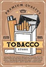 Cigarette Tobacco, Premium Quality Lighter