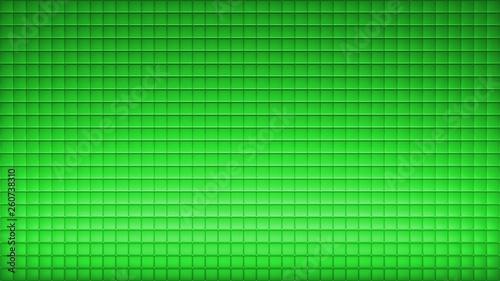 Leinwanddruck Bild - Anton : Squere Background Wall Architecture with pattern Green