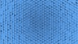 Leinwanddruck Bild Abstract geometric plastic background from small triangles blue