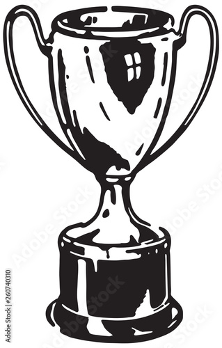 Foto Trophy  - Retro Ad Art Illustration