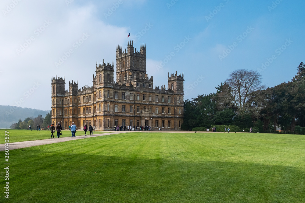 Fototapety, obrazy: Highclere Castle downton abbey hampshire