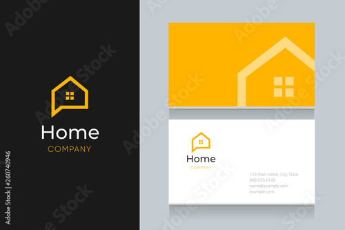 Obraz bubble house logo with business card template.  - fototapety do salonu