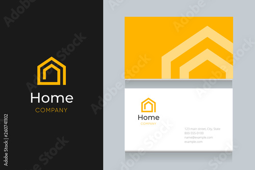 Obraz spiral house logo with business card template.  - fototapety do salonu