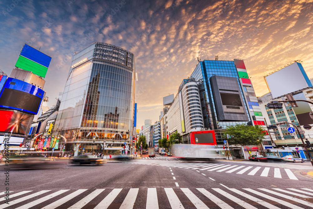 Fototapety, obrazy: Shibuya Crossing, Tokyo, Japan