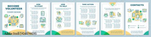 Photo Volunteer becoming brochure template layout