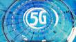 5G Netzwerkverbindung in abstrakter, grafischer Darstellung