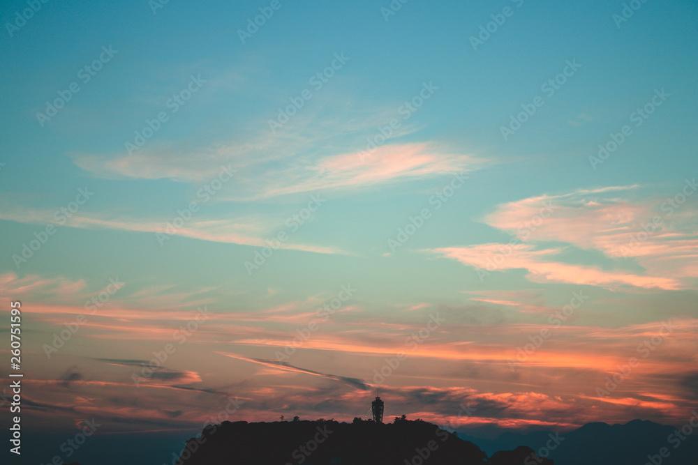 Fototapety, obrazy: 江の島の夕暮れ