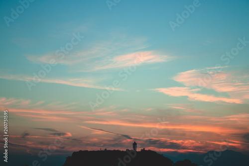 Obraz 江の島の夕暮れ - fototapety do salonu