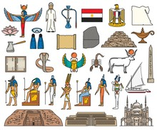 Egypt Religious Sacred Symbols And Ancient Deity
