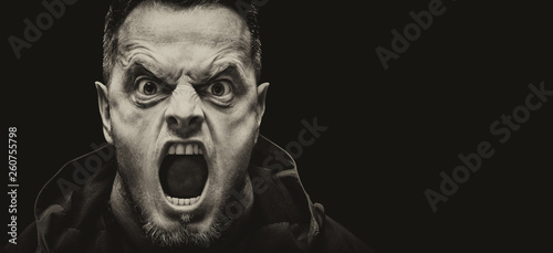 Photo Angry man vintage