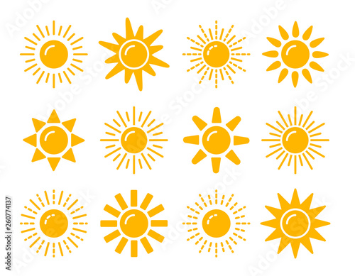 Cuadros en Lienzo Sun symbol collection