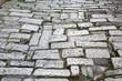 Old road Roman Empire time. Croatia Pula