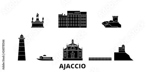 Photo France, Ajaccio flat travel skyline set