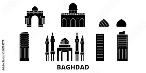 Fotografija  Iraq, Baghdad flat travel skyline set
