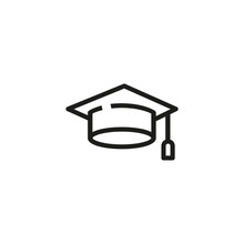 Graduation Cap Line Icon